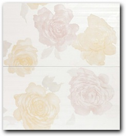 Керамическое панно Atlas Concorde Radiance Rose Radiance White Flowers C2 56х61