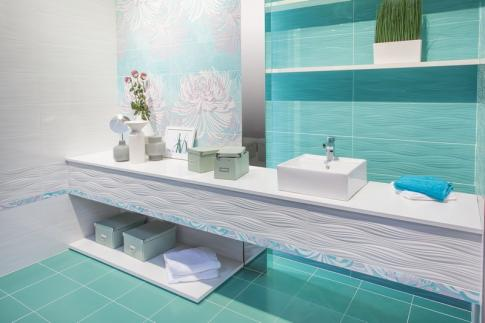 Decor Fresh Vancouver Glass R240 Панно (из 4х пл) 25х75 в интерьере