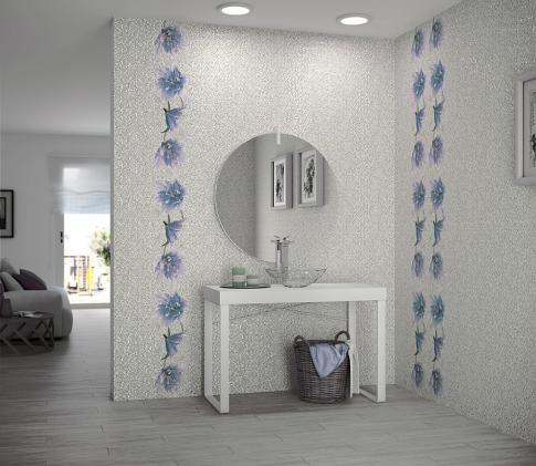 Dec. Lilium Cool Декор 117403 25х75 в интерьере
