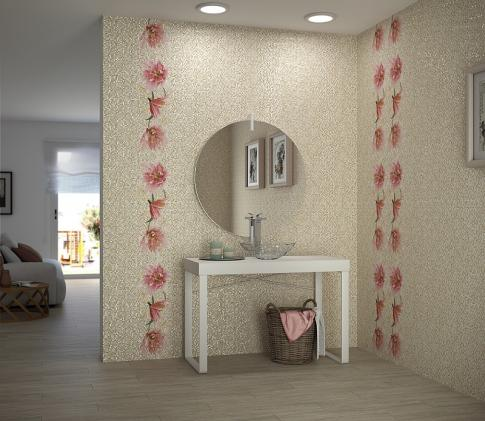 Dec. Lilium Warm Декор 117404 25х75 в интерьере