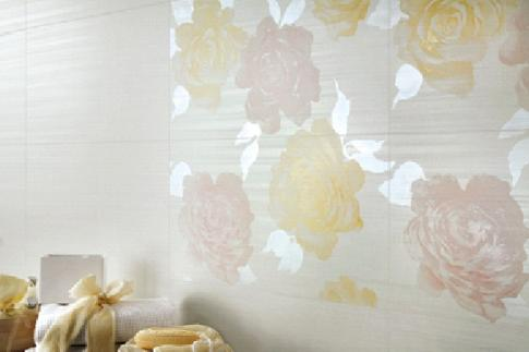 Radiance White Flowers C2 в интерьере