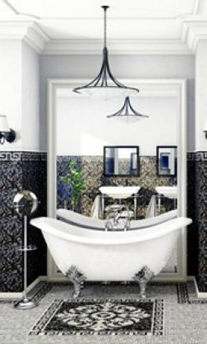 Mosaico Emperador Base Dark в интерьере