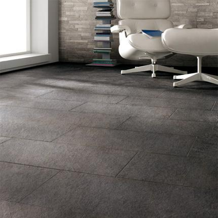 Керамогранит Percorsi Quartz Black STR Rett 30х60 в интерьере