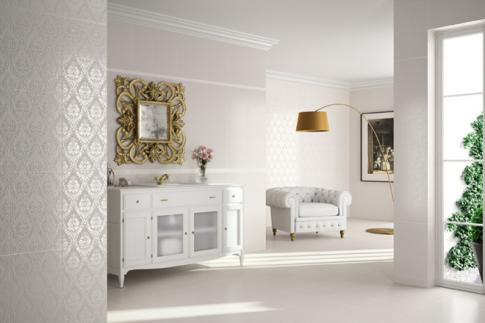 Декор Decor Florence 3 Cream 33.3*50 в интерьере