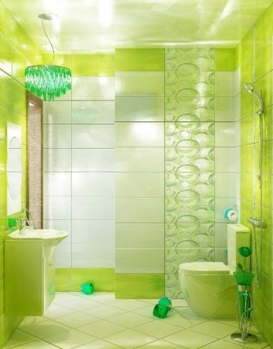 VARNA DECOR OLAS VERDE декор 250x500 мм в интерьере