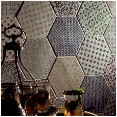 Marrakech Mosaic Verde Hexagon Декор 150х150 мм/56,1 в интерьере
