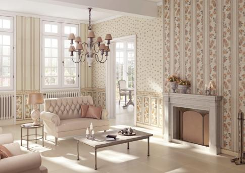 Decor Alheri Beige 4 25 x 70  в интерьере