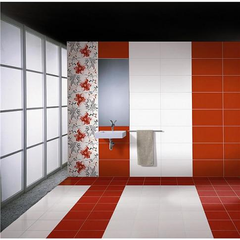 DECORADO BIESCAS ROJO 31,6х59,2 в интерьере