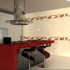 Коллекция Harmony Kitchen фабрики MYR Ceramica в интерьере
