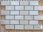 Керамическая мозаика Cir Serenissima Travertino Mosaico MIX BEIGE/CREAMA 3x6 (20х30)