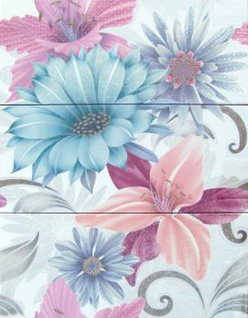Керамические декоры Cifre Декоративный элемент Soul Flower Decor Azul 3 x 20 x 50