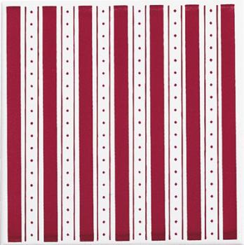 Настенная плитка  Brennero Ricordi Country Colonial Righe Bordeaux fondo 20*20