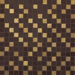 Керамическая мозаика Cris FEMOAU4 FEEL Chocolate and Gold Mosaic 32,5х65