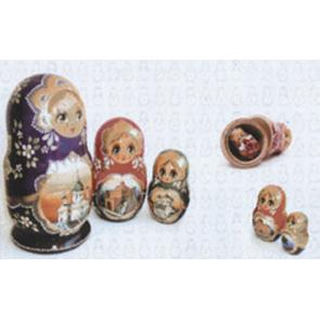 Керамические декоры Pamesa Vetro-Vetro Relieve Декор Dec.Matrioshka Blanco 25х40