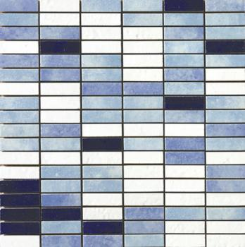 Керамическая мозаика Cir Serenissima In tinta Mosaico Mix Mini Brick Blu 30х30