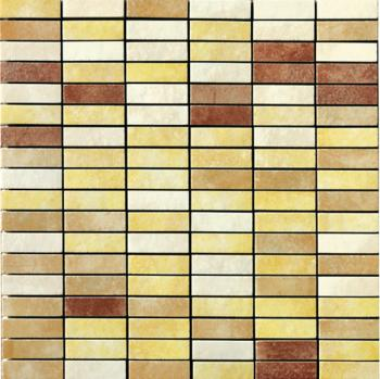 Керамическая мозаика Cir Serenissima In tinta Mosaico Mix Mini Brick Giallo 30x30