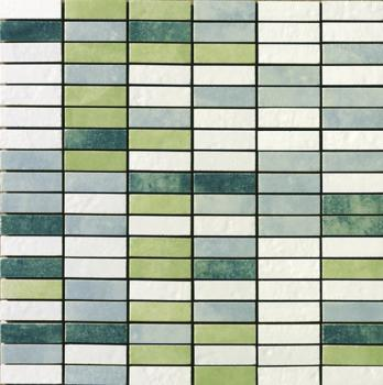 Керамическая мозаика Cir Serenissima In tinta Mosaico Mix Mini Brick Verde 30х30