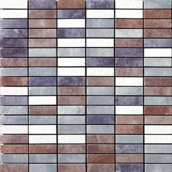 Керамическая мозаика Cir Serenissima In tinta Mosaico Mix Mini Brick Viola 30х30