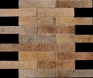 Керамическая мозаика Cir Serenissima Quarry stone Mosaico Sestino Mix Dark 30,5х30,5