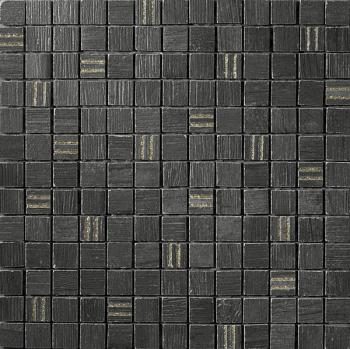 Керамическая мозаика Cir Serenissima Timber city Mosaico City Gold Nero 30,4х30,4