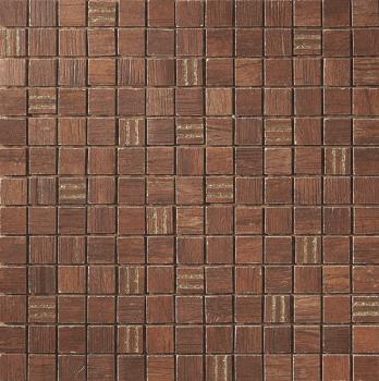 Керамическая мозаика Cir Serenissima Timber city Mosaico City Gold Rosso 30,4х30,4