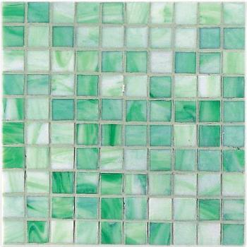 Стеклянная мозаика Vitrex Mosaico vetroso (project plus bronze mix) Мозаика M22 Verde Chiaro 32,5х32,5