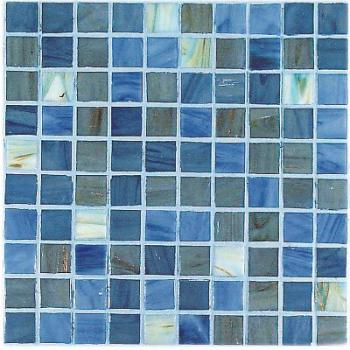 Стеклянная мозаика Vitrex Mosaico vetroso (project plus bronze mix) Мозаика M23 Grigio Azzurro 32,5х32,5