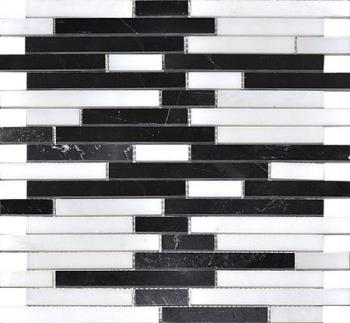 Каменная мозаика Colori Viva Natural Stone Strips Mix.Polished 30.5х30.5