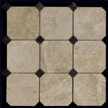 Каменная мозаика Natural Mosaic Мозаика Octagon-1 M036+M076-BP 30,5x30,5