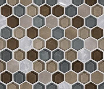 Мозаика	L241711091 FUSION HEXAGON CARAMEL MIX	29,5x25,5