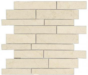 Каменная мозаика Novabell Absolute Crema Marfil / Brown Мозаика Absolute Muretto Lapp. Crema Marfil 30x30