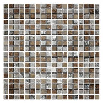 Каменная мозаика ORRO Mosaic Orro glasstone Colonial Brown 4 mm 30x30