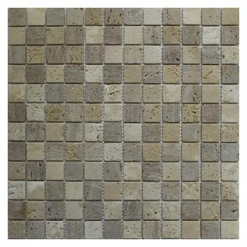 Каменная мозаика ORRO Mosaic Orro stone Travertine Mix Tum. 4 мм. 30,5x30,5
