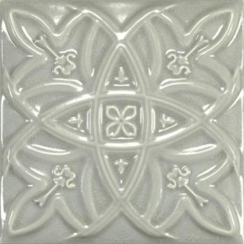 Керамические декоры Amadis Fine Tiles Antique Crackle Deco Relieve Greengreycrack Декор 150х150 мм/6шт
