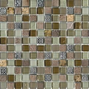Настенная плитка  L'antic Colonial Mosaicos Tecno Glass Country (2,1x2,1) 29,6x29,6