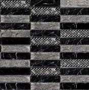 Greek Negro Marquina мозаика 2,3x9,8 (29,6x29,6)