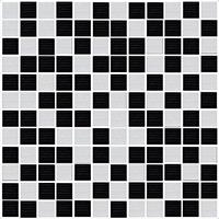 ENERGY Mosaico Black-Blanco 30 x 30
