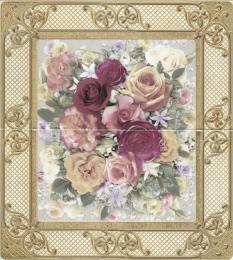 Decorado Yellowrose crema marfil (из 2-х элементов) 33х60