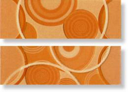 Бордюр Glamour Apricot List. Circle Mix 2 8x25