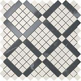 Мозаика Atlas Concorde Marvel Pro Cremo Mix Diagonal Mosaic (цвета Cremo+Noir) 30,5x30,5 см