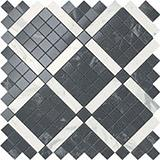 Мозаика Atlas Concorde Marvel Pro Noir Mix Diagonal Mosaic (цвета Cremo+Noir) 30,5x30,5 см