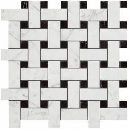 Мозаика Керамогранит ATLAS CONCORDE MARVEL STONE Basketweave Cold Lappato 30х35