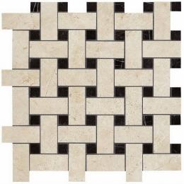 Мозаика Керамогранит ATLAS CONCORDE MARVEL STONE Marvel Basketweave Warm Lappato 30х35