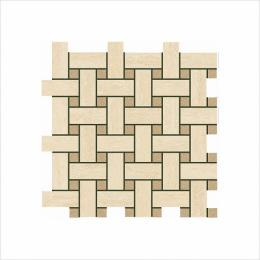 Мозаика ITALON ИТАЛОН TRAVERTINO Navona Mosaico Lounge Глянцевая 30,5х30,5