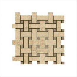 Мозаика ITALON ИТАЛОН TRAVERTINO Romano Mosaico Lounge Глянцевая 30,5х30,5