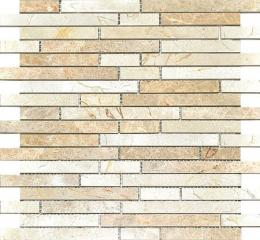 Colori Viva Natural Stone Strips Mix.Polished Light Emperador+Crema Marfil 30.5х30.5