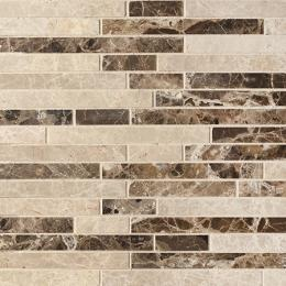 Colori Viva Natural Stone Strips Mix.Polished Light Emperador+Dark Emperador 30.5х30.5