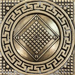Tile 02 Shined Brass 6x6