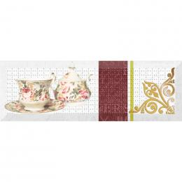 Decor Tea Flowers 03 10x30