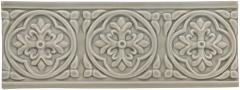ADEX STUDIO Бордюр Relieve Palm Beach Graystone Размер 7,5x19,8 см